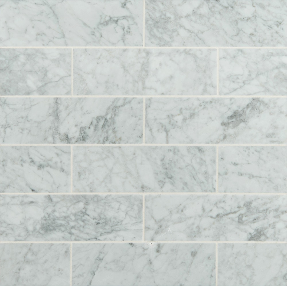 Arabescato Carrara Marble : Ms international marble mosaic arabescato carrara