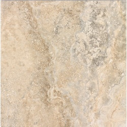 "BellaVia Porcelain Ceramic Marble Tiles & Mosaics Nu Travertine Walnut 18""x18"" Polished/Rectified Model 150961221 Flooring Tiles"