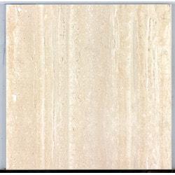 "BellaVia Porcelain Ceramic Marble Tiles & Mosaics Nu Travertine Cream Vein Cut 12""x24"" Natural Rectified Model 150961211 Flooring Tiles"