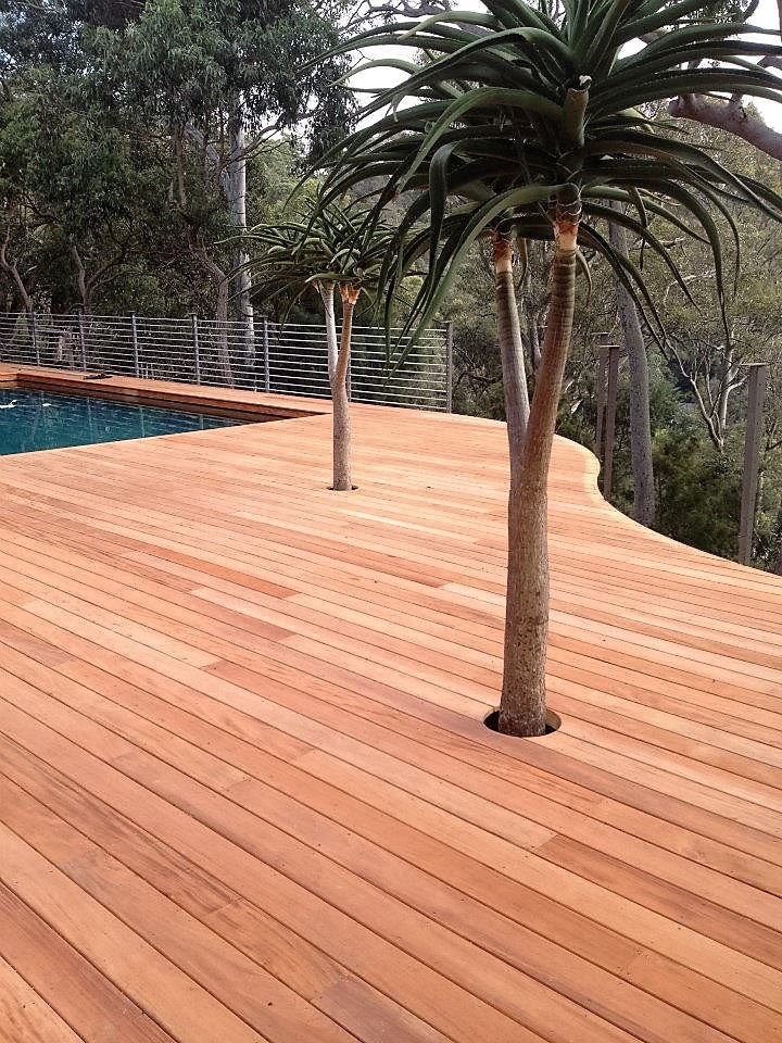 Free samples green world lumber premium exotic wood for Timber decking materials