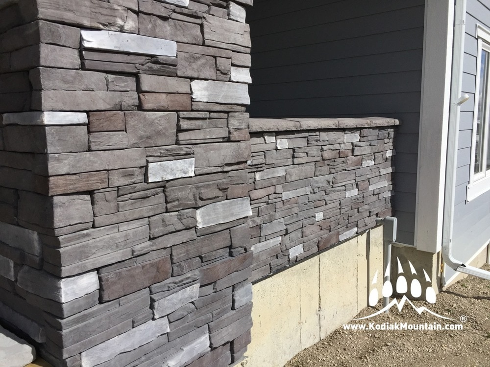 Stone Veneer Elevation : Kodiak mountain stone manufactured veneer frontier