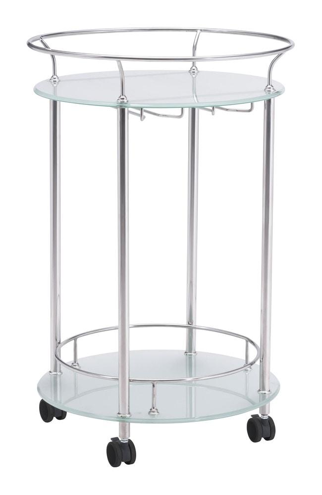 Zuo modern plato dining room serving cart 1 piece stainless steel - Dining room serving carts ...