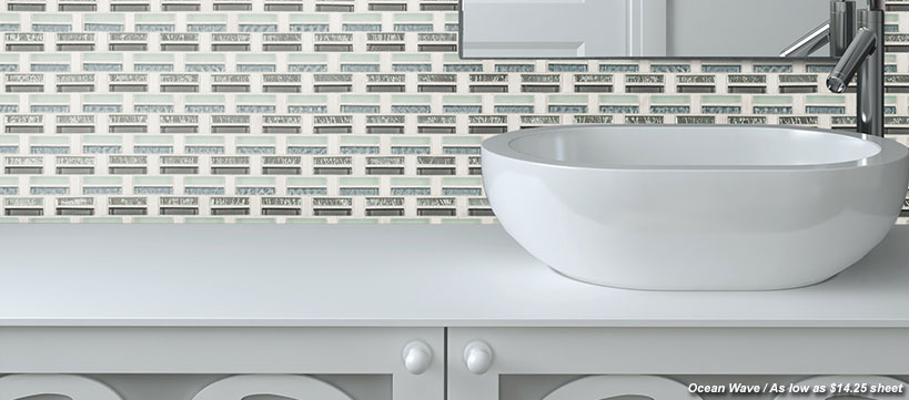 BuildDirect Glass & Stone Blend Mosaics at $7.79 / sheet